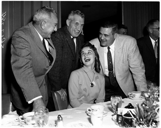 Football -- sports luncheon, 1957