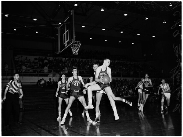 Basketball -- UCLA versus Stanford, 1958