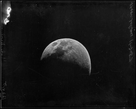 Moon eclipse, 1957.