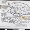 Schematic map of the new Dodgers Stadium's site and surrounding area, Los Angeles