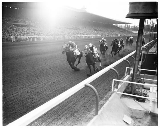 Horses -- race -- Santa Anita Handicap, 1958