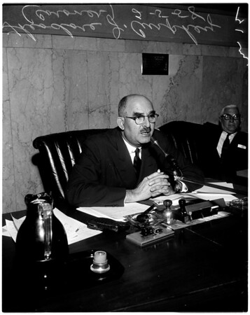 Hearing on coroner's office, 1958