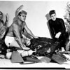 Skin divers find rock of Jade, 1958