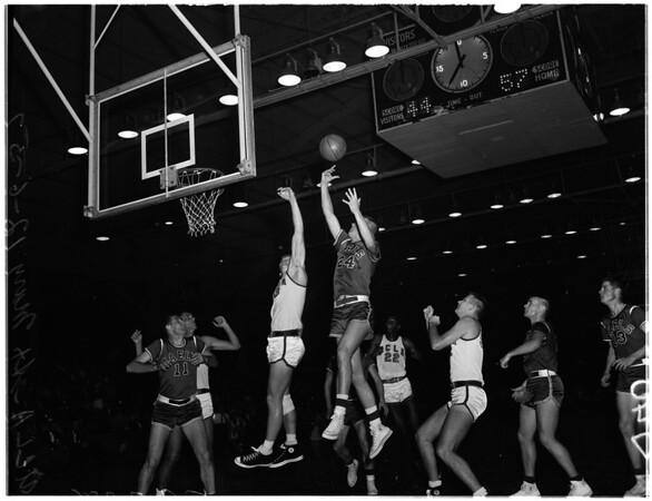Basketball -- UCLA vs Saint Marys, 1957