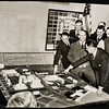 Supervisors and Superior Court judges examining a model of the proposed Civic Center, Los Angeles, 1941