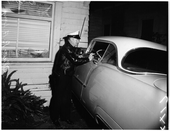 Car into home at 1598 W. Jefferson, 1958