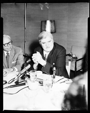 British labor leader, 1957
