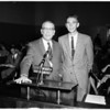 Youth Forum winner at Board of Education, 1958