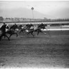 Horses -- race -- harness race at Santa Anita, 1958