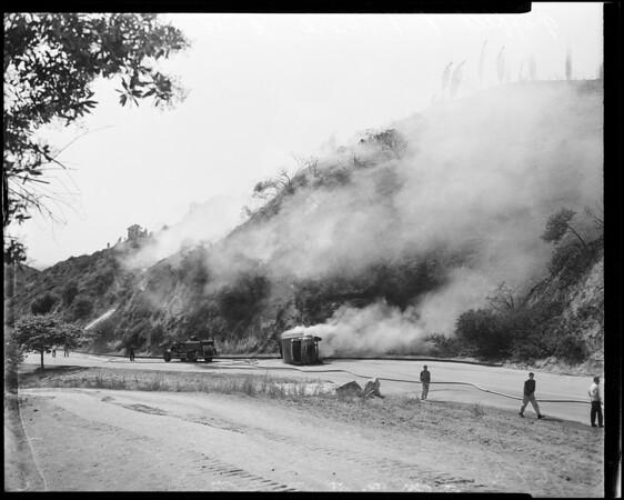 Griffith Park brush fire, 1957