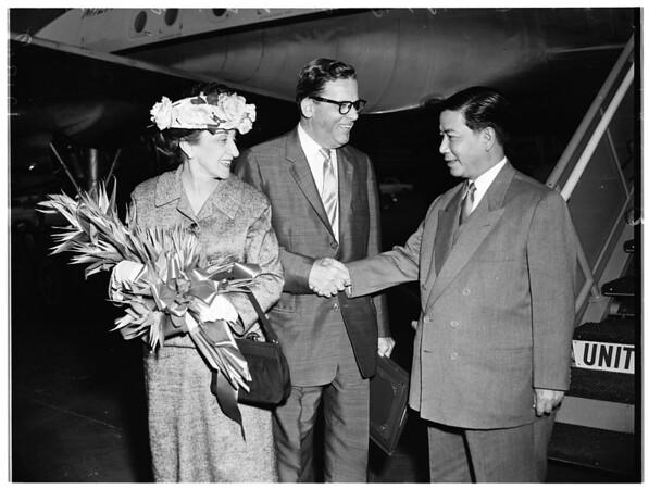 Arrival of President of Republic Vietnam, 1957