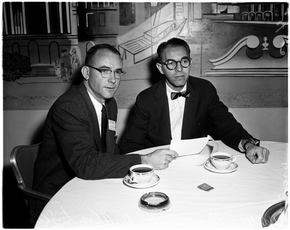 L.A. County Heart Association meeting at Statler, 1958
