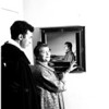 Society...Mrs. Robinson and artist, 1958