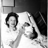 Marilyn King Lloyd and Susannah Lloyd (baby daughter), 1958