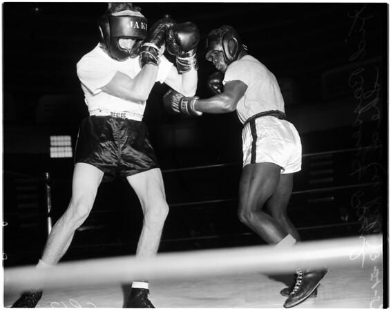 Boxing - Kid Bassey workout, 1958