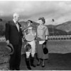 Horses -- race -- ceremony presentation -- Santa Anita, 1958