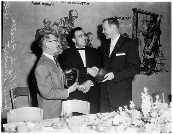 """""""Men of the Year"""" at Fort MacArthur's Officers Club, 1958"""