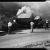Griffith Park brush fire (overturned truck started fire), 1957