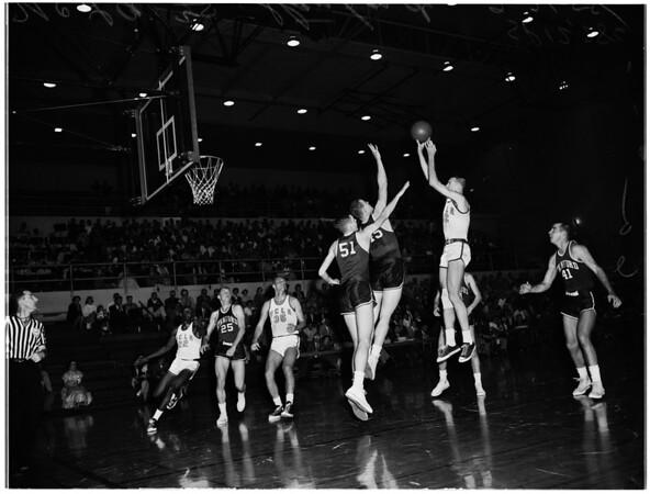 Basketball -- UCLA versus Stanford, 1958