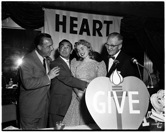 Heart Fund drive, 1958