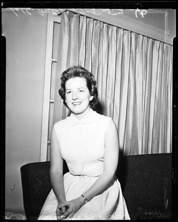 Mrs. Robert (Sally) Errol Fraser Anthony (UCLA political Science Graduate), 1957