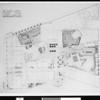 Floor plan of the Wilshire Lobby at Los Angeles Statler Hotel