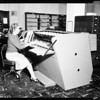 Simplafind machine at county library, 1957.