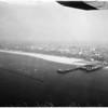 Air views of Santa Monica Harbor, 1960