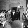 City Council newly elected and new President under Mayor Yorty, 1961