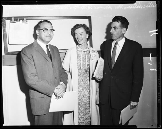 New Pasadena Board of Education Members, 1957