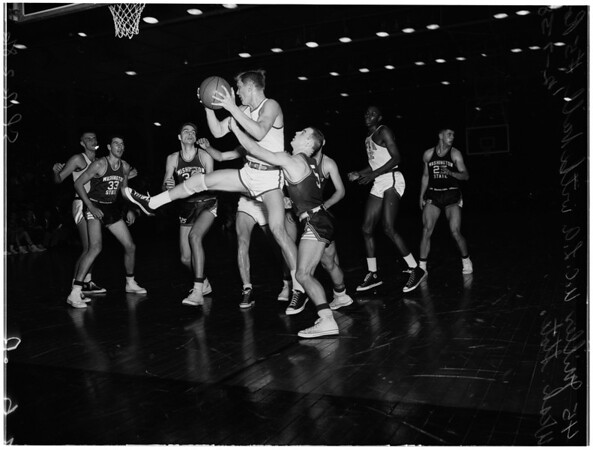 Basketball -- UCLA versus Washington State, 1958