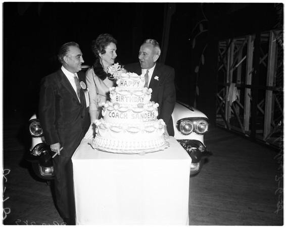 Coach Red Sanders birthday, 1958