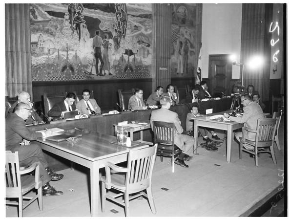 Oil hearing, 1958