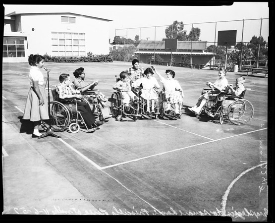 Harlan shoemaker school dedication (paraplegics), 1957.