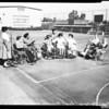 Harlan shoemaker school dedication (paraplegics), 1957.