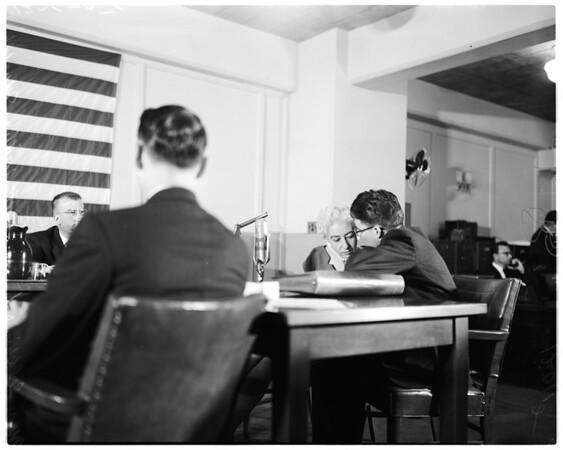 Un-American activities hearing (Federal Building), 1956