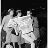 Baseball -- Los Angeles Dodgers depart for first game in World Series -- Los Angeles versus Chicago Whitesox, 1959