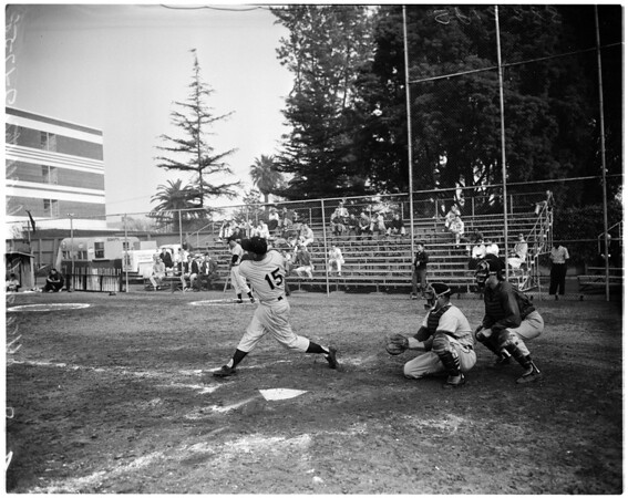 Baseball -- USC versus Crowly All Stars, 1958