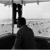 Beaches full on Sunday (Huntington Beach State Park), 1960