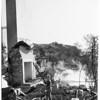Hollywood Hills brush fire, 1961