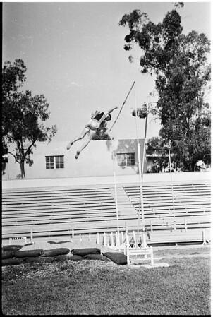 Track -- pole vault, [ca. 1957]