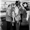 Bob Hope starts on his United Service Organizations tour, 1960