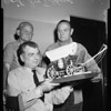 Trustees make gift for valley division jailer, 1957