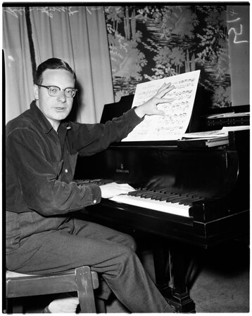 Composer at home, 1958