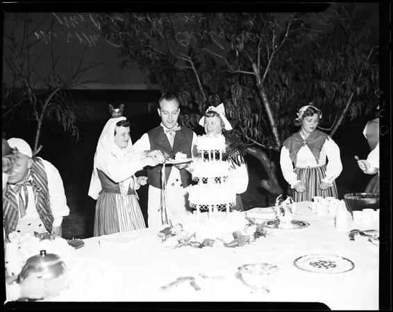 Swedish wedding, 1957