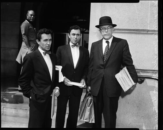 Finn Twins arrest Judge Chantry, 1957