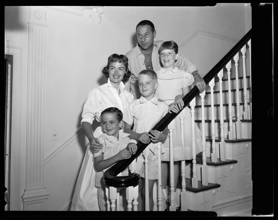 Donna Reed and family, 1956