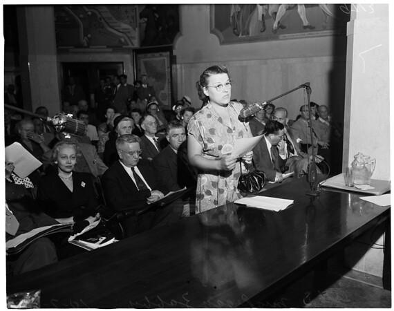Duarte quarry hearing, 1952