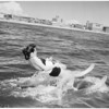 Hot Weather Feature (water ski school near Santa Monica Pier), 1959
