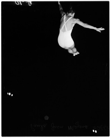 Swimming -- Examiner swim meet, 1958